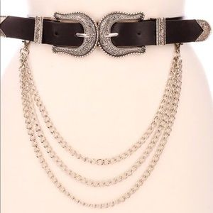 🆕 Link Up Double Buckle Chain Belt